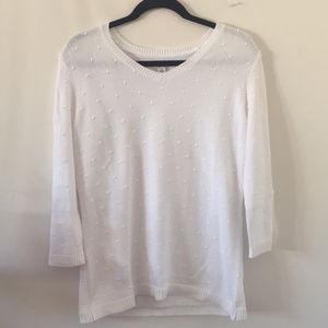 Croft & Barrow White Sweater